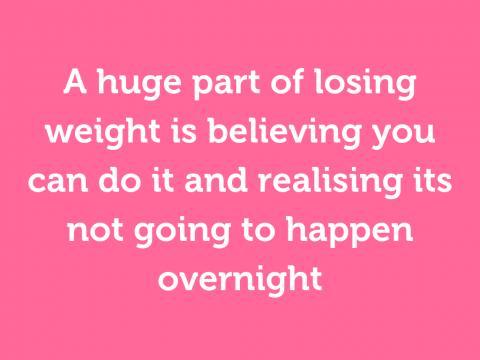 "Don't say ""I want to lose weight""; say ""it's time to change"""